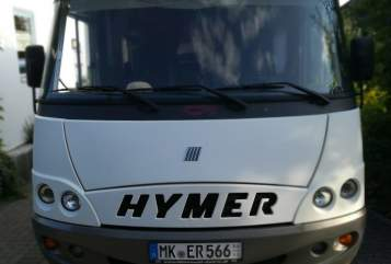 Hire a motorhome in Plettenberg from private owners| Hymer Mucki