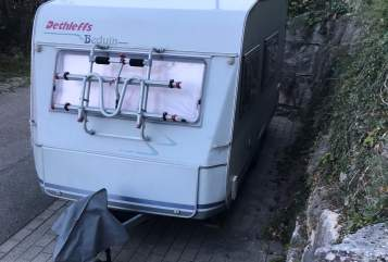Hire a motorhome in Löwenstein from private owners| Dethleffs Chalet
