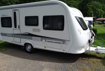 Hire a motorhome in Erftstadt from private owners| Hobby Bolzis Hobby