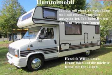 Hire a motorhome in Gössendorf from private owners| Bürstner   Hummimobil