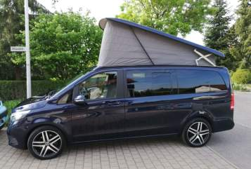 Hire a motorhome in Stuttgart from private owners| Mercedes V Klasse Marco Polo Blue Love