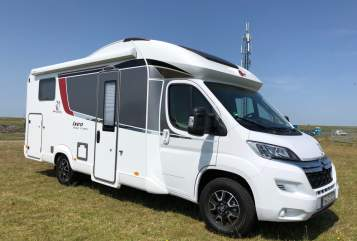 Hire a motorhome in Kreis Iserlohn from private owners| Bürstner Gustl on Tour