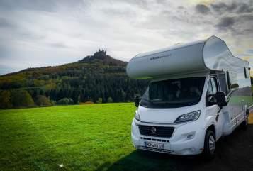Hire a motorhome in Bisingen from private owners| Dethleffs Glücksmobil Glücksmobil