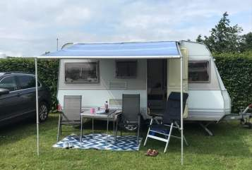 Hire a motorhome in Niebüll from private owners| Dethleffs CampingKoje