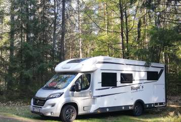 Hire a motorhome in Sinzheim from private owners| Mobilvetta Hape`s Mobil