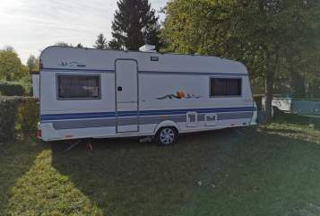Hire a motorhome in Eschweiler from private owners| Hobby 555UL Erna Tours