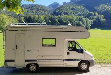 Hire a motorhome in Aschau im Chiemgau from private owners| FIAT DUCATO GLÜCKSMOBIL