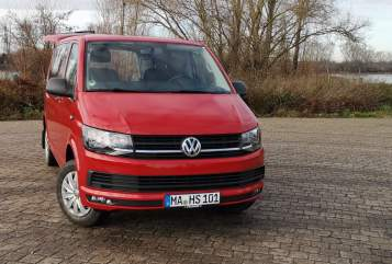 Hire a motorhome in Mannheim from private owners| VW Red Bully