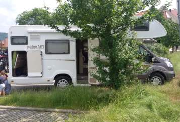 Hire a motorhome in Rackwitz from private owners  Ford Transit Familiencamper