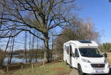 Hire a motorhome in Pörnbach from private owners  Bürstner HomeOfficeMobil