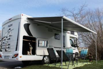 Hire a motorhome in Borsdorf from private owners| Fiat 6PfotenMobil