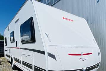 Hire a motorhome in Bechtolsheim from private owners| Dethleffs blue