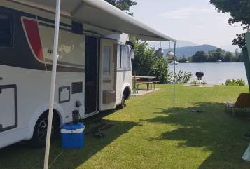 Hire a motorhome in Kamen from private owners| Bürstner Hubi 3,8 Tonner