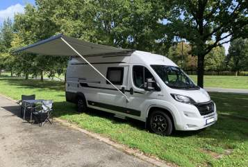 Hire a motorhome in Hannover from private owners  Hobby Vantana on Tour Hobby Vanny