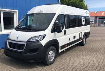 Hire a motorhome in Ellingstedt from private owners| Knaus Kiwis Dogsmobil