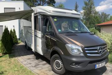 Hire a motorhome in Bestensee from private owners| Mercedes Hymer RB REISEN MOBIL