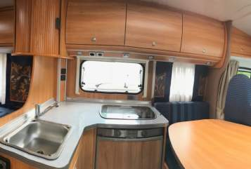 Hire a motorhome in Wegberg from private owners| Bürstner  Krümels Bürsti