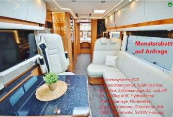 Hire a motorhome in Oberhausen from private owners  Concorde Mercedes Concorde Charisma IVECO Morelo EdelCharisma 5*
