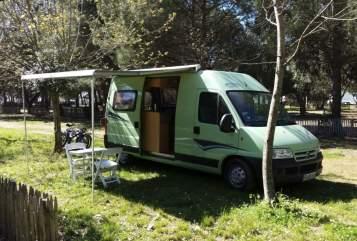 Hire a motorhome in Freiburg im Breisgau from private owners| Citroen Kastenwagen (Pössl-Ausbau) Lindi