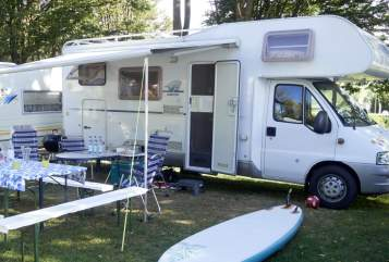 Hire a motorhome in Ebersburg from private owners| Fiat Ducato Fridolin