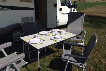 Hire a motorhome in Löffingen from private owners| Fiat Ducato 244 Hausi   Reisen mit Baby