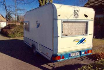 Hire a motorhome in Hall in Tirol from private owners| Knaus Berti Blue