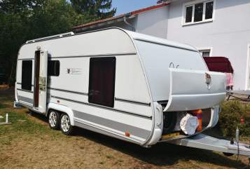 Hire a motorhome in Burgstädt from private owners| Tabbert Luise