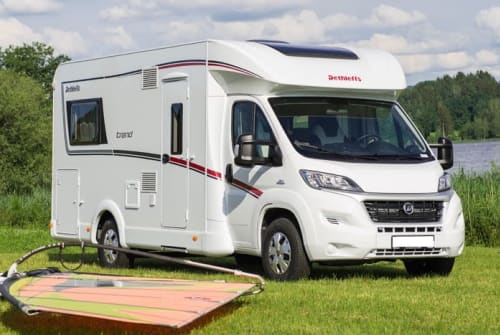 Hire a motorhome in Hoyerswerda from private owners  FIAT Dethleffs Seenland Camper