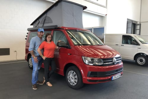 Hire a motorhome in Augustdorf from private owners| VW T6 California Löwen Coast