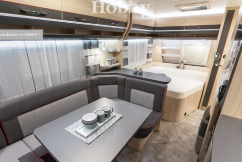 Hire a motorhome in Geretsried from private owners| Hobby Mucki