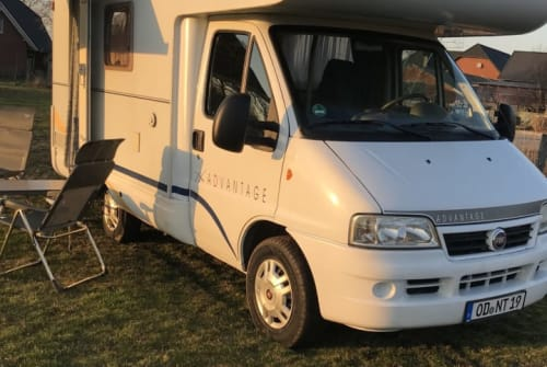 Hire a motorhome in Bargfeld-Stegen from private owners  Dethleffs Dethleff