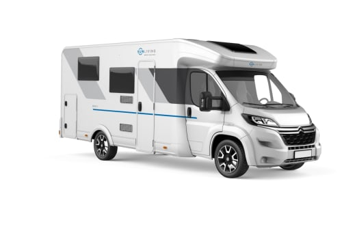 Hire a motorhome in Hamburg from private owners| SUNLIVING White Camper