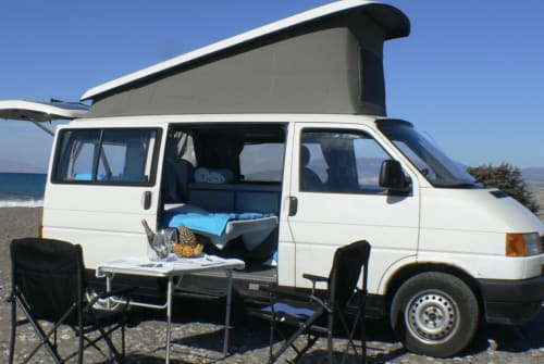 Hire a motorhome in Rhodos from private owners| VW California  Helios