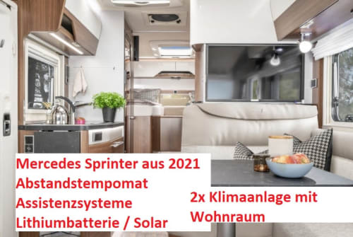 Hire a motorhome in Oberhausen from private owners| Hymer Mercedes Sprinter Edel MC580