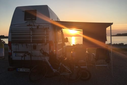 Hire a motorhome in Schriesheim from private owners  Poessl Big White