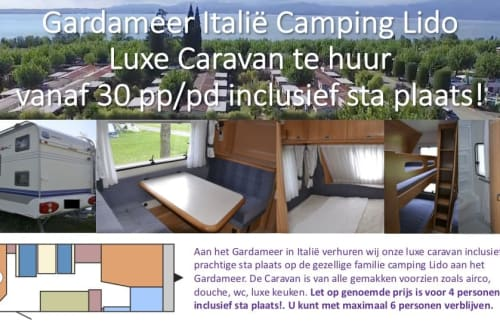Hire a motorhome in Lazise from private owners| Hobby Luxe Caravan