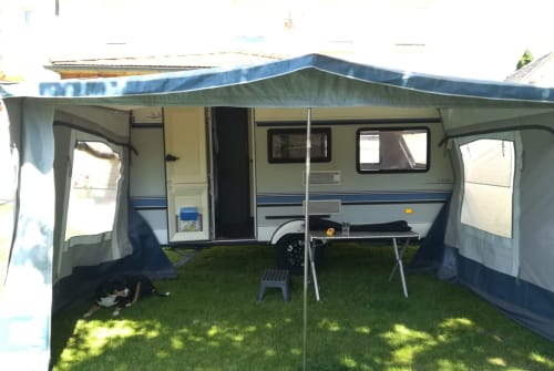 Hire a motorhome in Leuna from private owners  Hobby Flobian