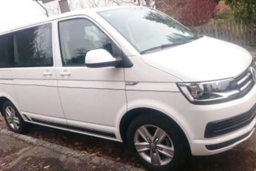 Hire a motorhome in Krumbach from private owners  VW Bus T 6 Multivan Comfortline White Bully
