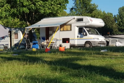 Hire a motorhome in Freiburg im Breisgau from private owners  Fiat Ducato 2.8 TDI Eura Mobil