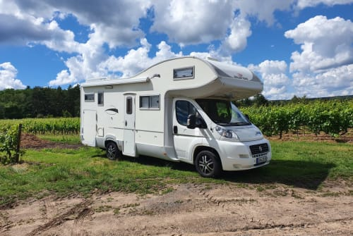Hire a motorhome in Weisenheim am Berg from private owners| Fiat Pfalzmobil