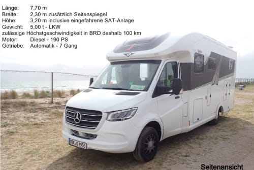 Hire a motorhome in Liederbach am Taunus from private owners| Frankia  Letizia