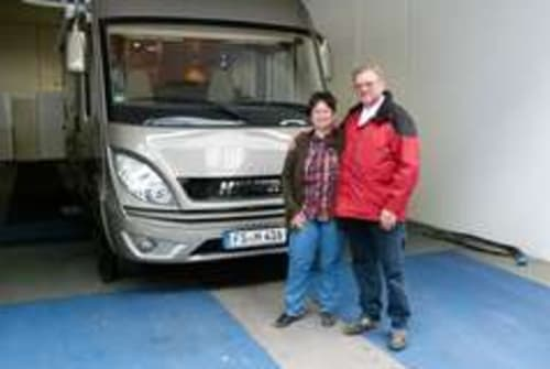 Hire a motorhome in Kranzberg from private owners| Hymer Antje