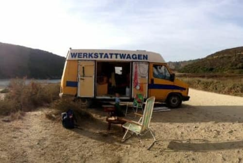 Hire a motorhome in Aljezur from private owners| Fiat  Werkstattwagen aka WERKE